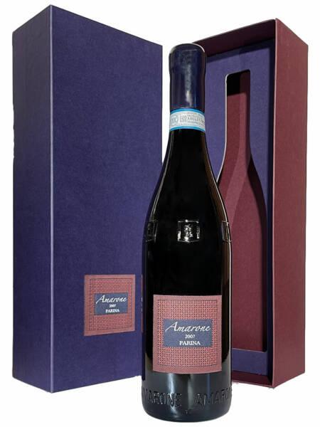 Flasche Farina Amarone 2007 mit Karton